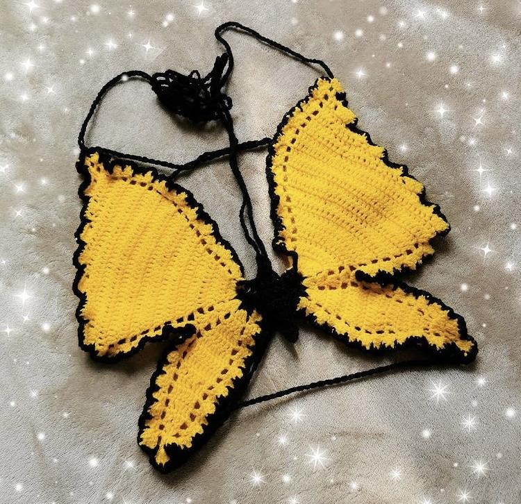 Didarastudio crochet butterfly top