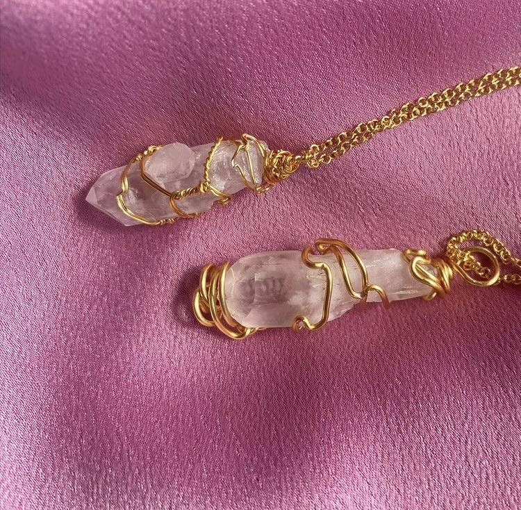 rose quartz, aventurine and clear quartz