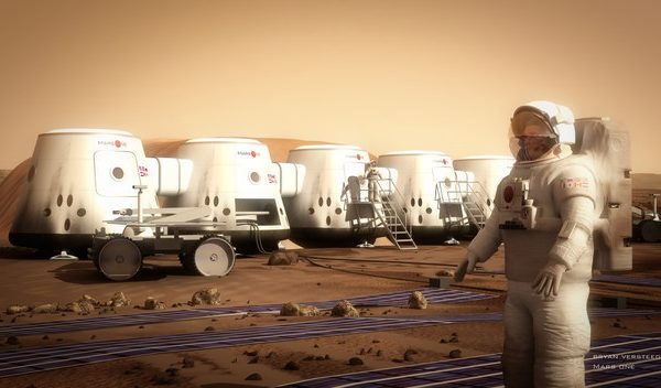 Concept art of the Mars One mission. Photo: Mars One.