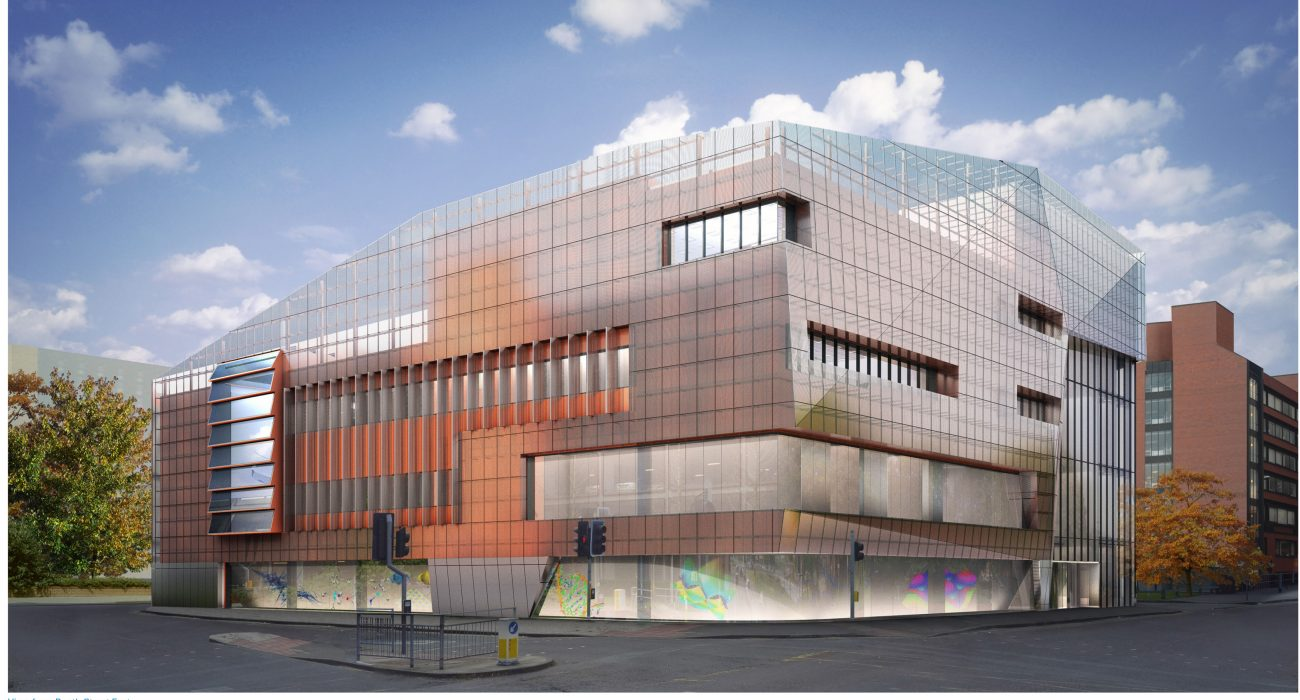 An artist's impression of the National Graphene Institute. Photo: The University of Manchester