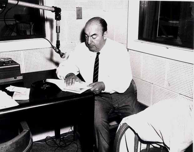 Photo: Pablo Neruda (1966) @ Wikimedia Commons