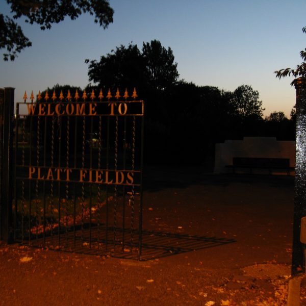 Platt Fields park, the site of two armed robberies. Photography: Matty Major