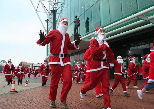 Charity Santa fun run at Manchester United's Old Trafford. Photo: Howard Lake @Flickr