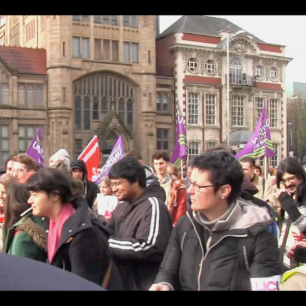 "A two-hour strike on the 6th of February lead MMU bosses to threaten to ""[dock] a day's wages"". Photo: @Fuse TV"