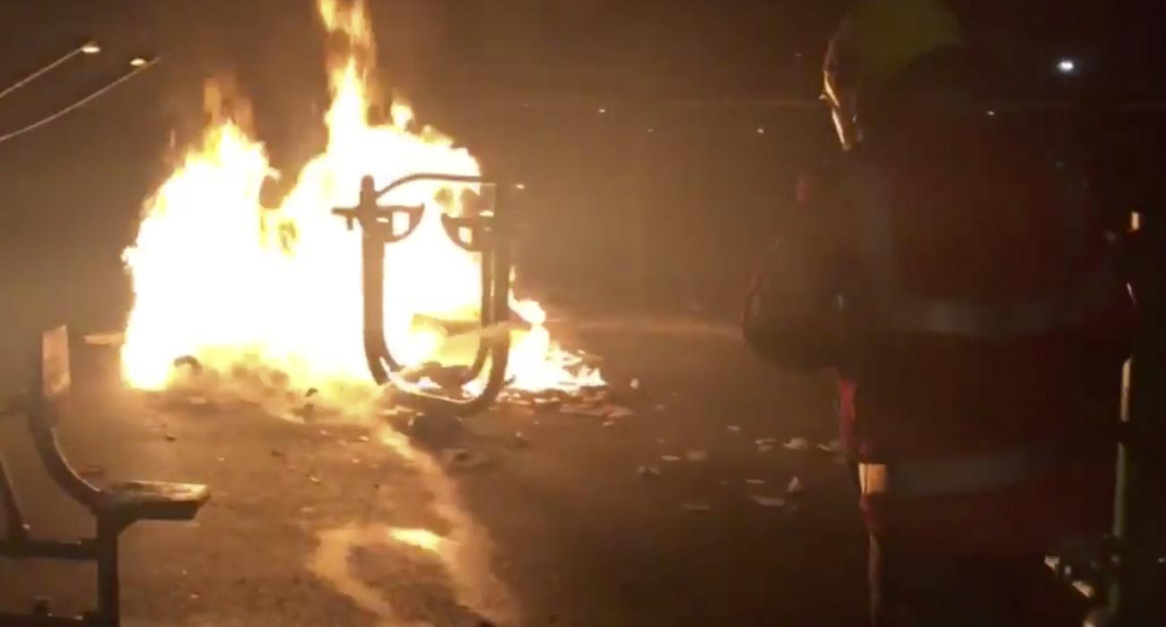 Bonfire (Image: Manchester Fire @ Twitter)
