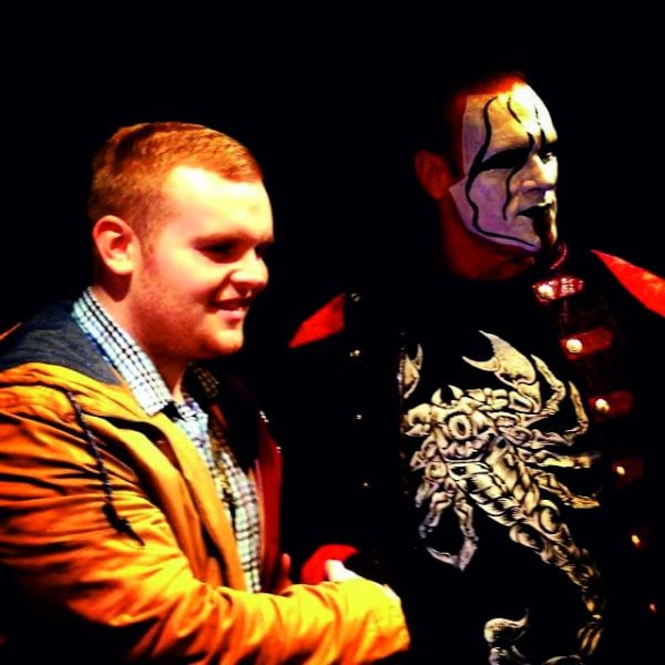 Ben caught up with wrestling legend Sting on a recent visit to Manchester. Photo: The Mancunion
