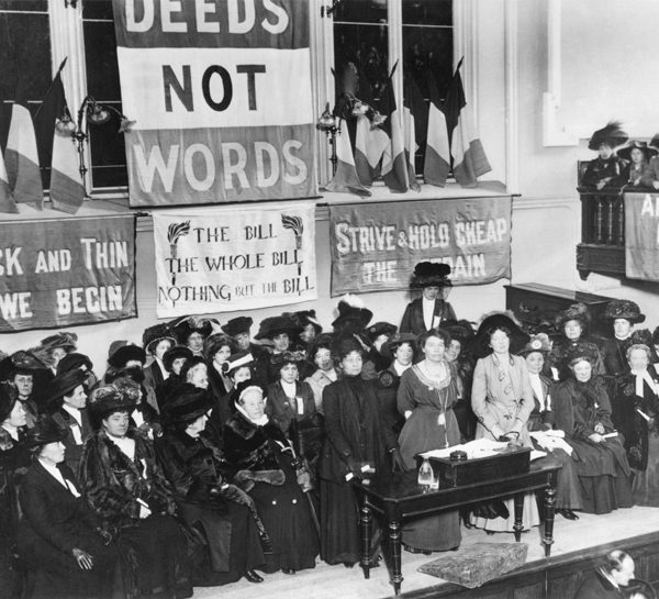 Suffragettes 1908 Photo: Wikimedia Commons