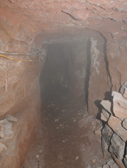 100 ft tunnel from underneath Fallowfield Blockbuster car park to directly beneath the cash machine