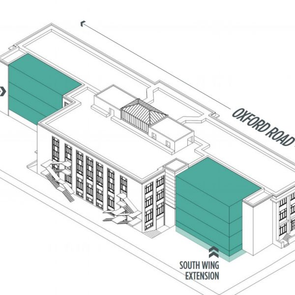 The plans involve extending both the North and South wings. Photo: University of Manchester Students' Union