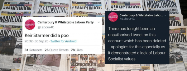 Tweets from a Labour Party group. Photo: The Mancunion