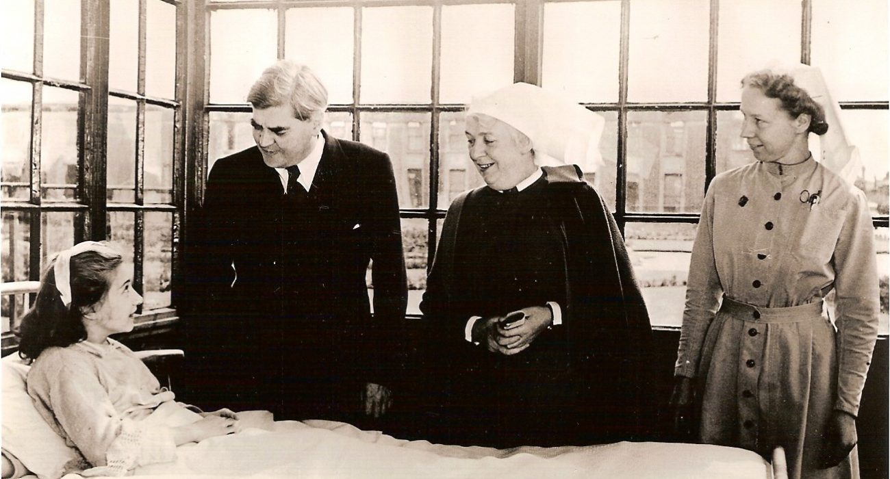 Anenurin Bevan, first day of NHS (Image: University of Manchester)
