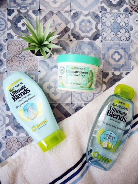Garnier Ultimate Blends shampoo, conditioner and hair mask