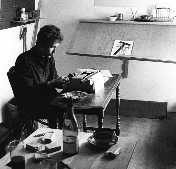 Image result for bob dylan writing