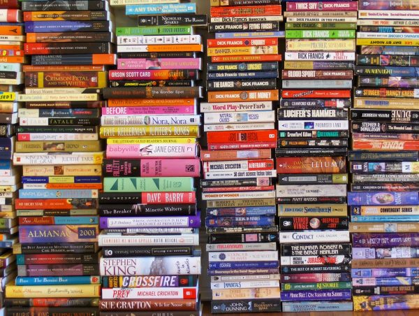Stack of books for bookshop.org article
