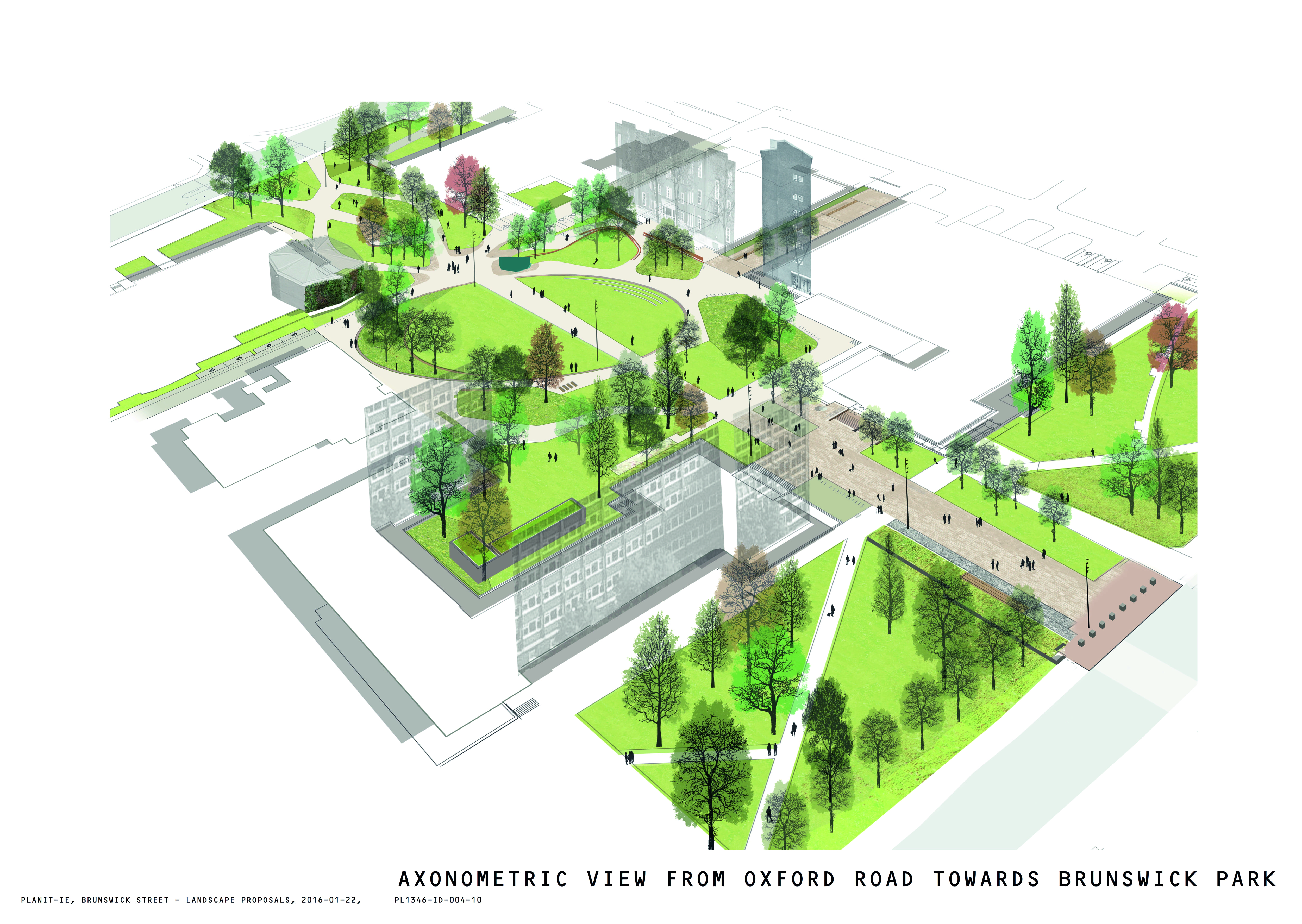 Plans of Brunswick Park in the heart of the Corridor and the University of Manchester campus have been unveiled. Photo: The University of Manchester