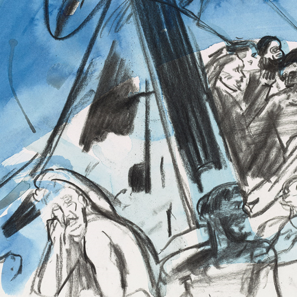 Photo: Cecily Brown, Shipwreck drawings, Courtesy Thomas Dane Limited