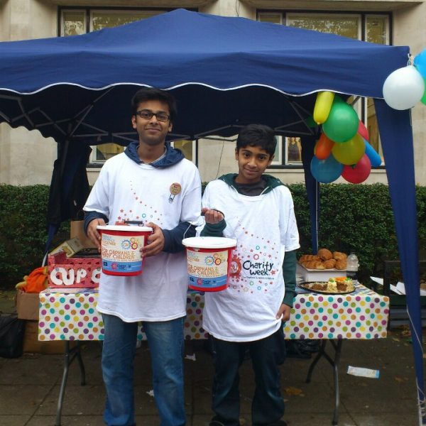 Volunteers man the stall for a good cause