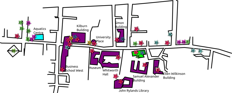 Whitworth University Campus Map.Food And Drink Campus Map The Mancunion