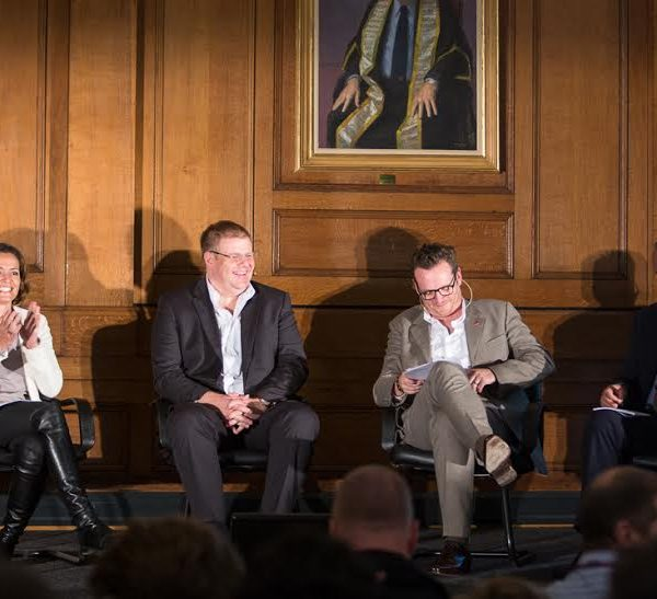 (Left to right) Amanda Stretton, Norman Koch, Jason Barlow, Richard Noble. Photo: Intelligence Squared / Tim Bowditch