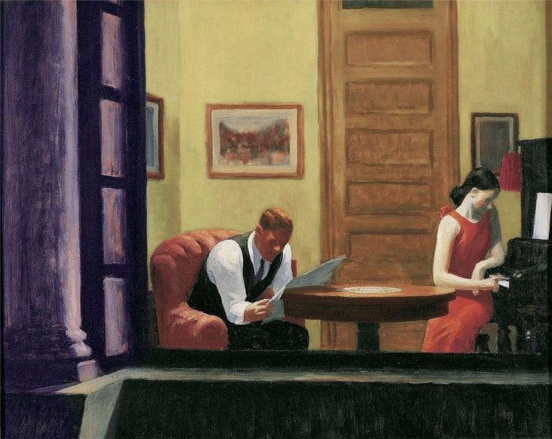 'Room in New York' (1932) by Edward Hopper