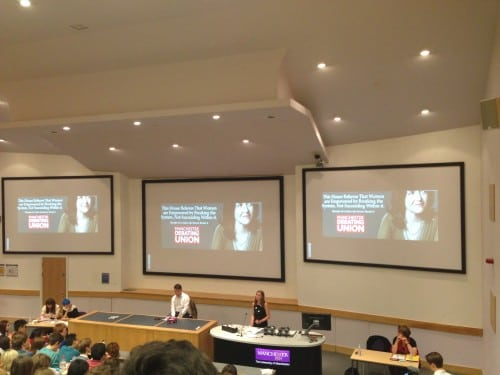 Debate discusses whether the system should be broken to empower women. Photo: The Mancunion