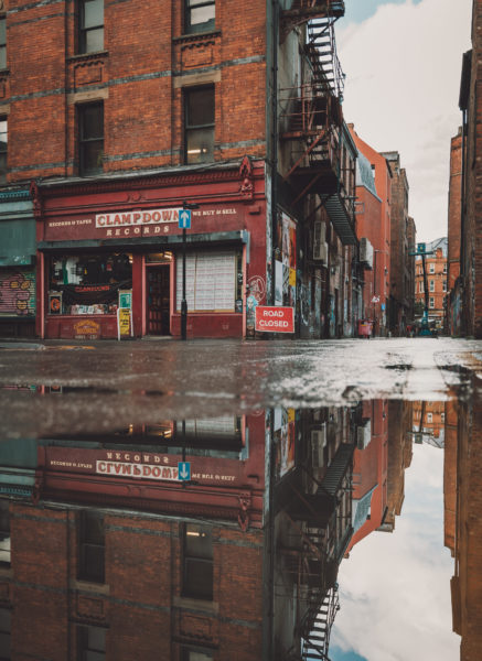 Manc Wanderer street view reflection behind Piccadilly station Photo: Nathan Whittaker @ Manc Wanderer