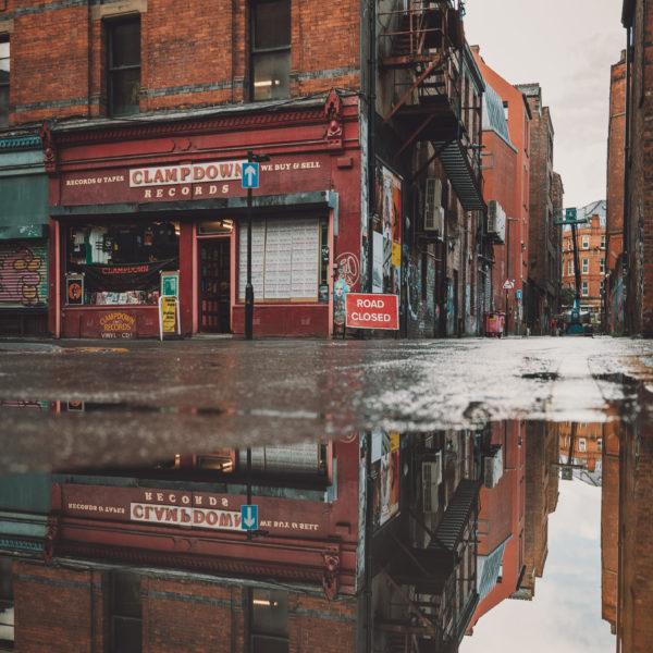 Manc Wanderer street view reflection behind Piccadilly station Photo: Nathan Whittaker @ Manc Wanderer