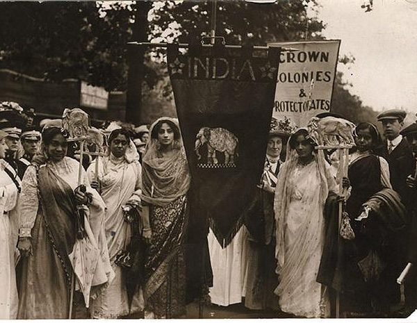 Indian Suffragettes march for the right to vote. Photo: RV1864 @Flickr