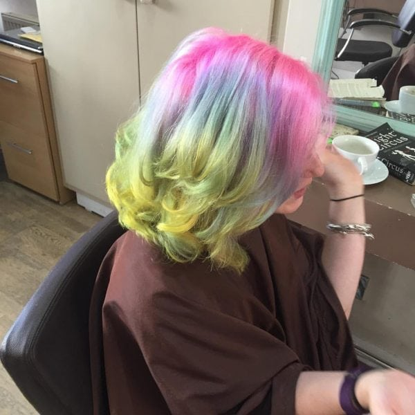 Rainbow hair. Photo: The Mancunion
