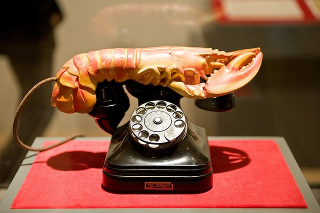 Dali's Lobster Telephone (1936). Photo: mark6mauno@Flickr