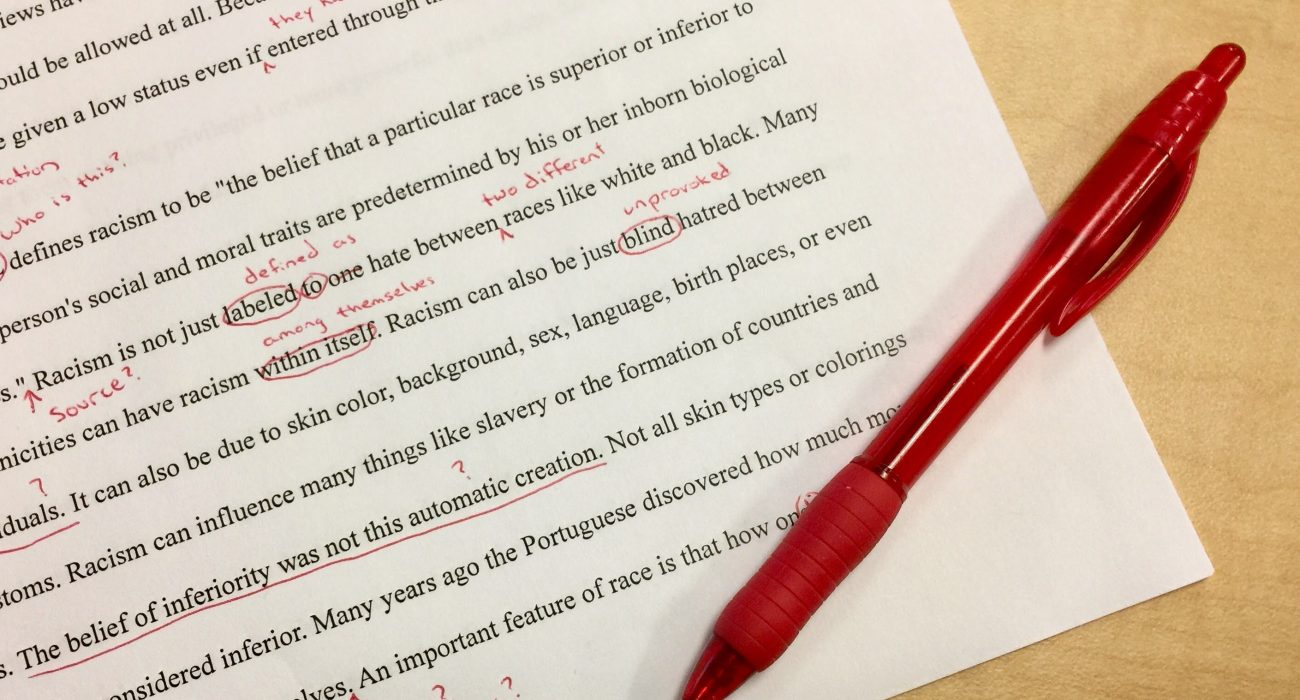 Editing and writing