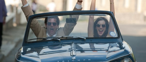 Anne Hathaway and Jim Sturgess celebrate in 'One Day'. Needlessly.