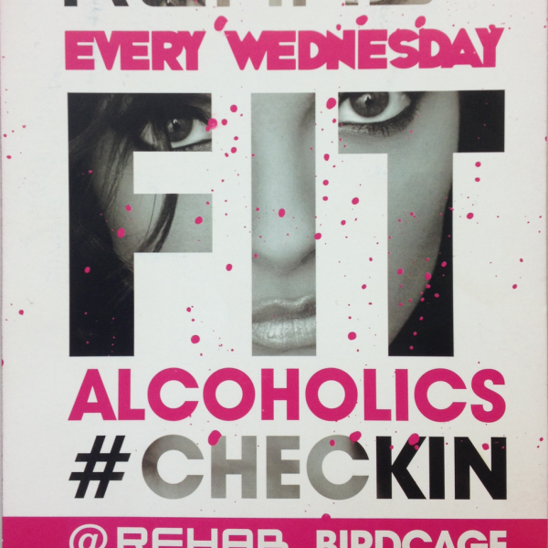 "The controversial flyer is said to ""make light of alcoholism"". Photo: Social Junkies"