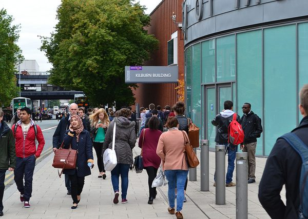 International students at London universities were forced to queue for hours overnight. Photo: Sabrina Khan