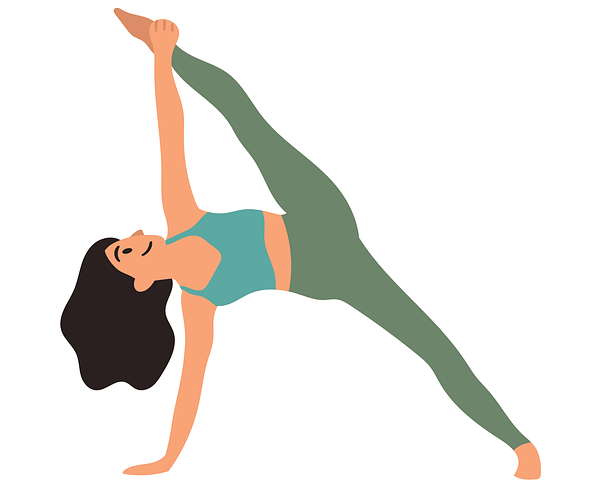 cartoon drawing of yoga pose
