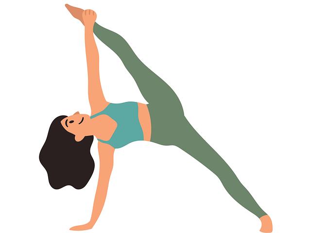 cartoon drawing of yoga pose